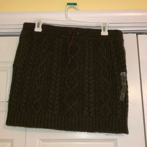 POLO Cable Knit Skirt with POCKETS